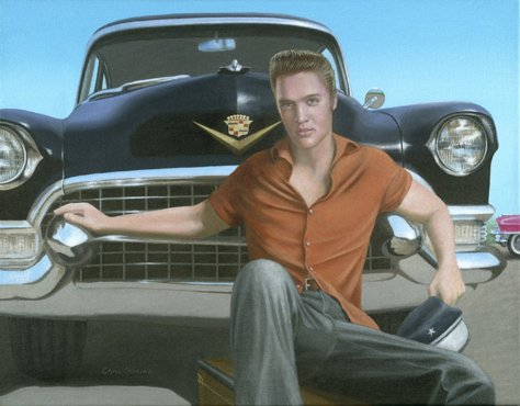 Elvis and his 1955 Cadillac Limo, Chris Osborne