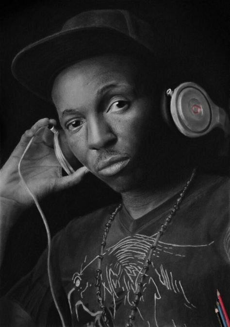 """Frank Edwards"", 58 cm x 43 cm. 2015, Pencil on Paper. NOT FOR SALE. Alexander Peter, Abuja, Nigeria"