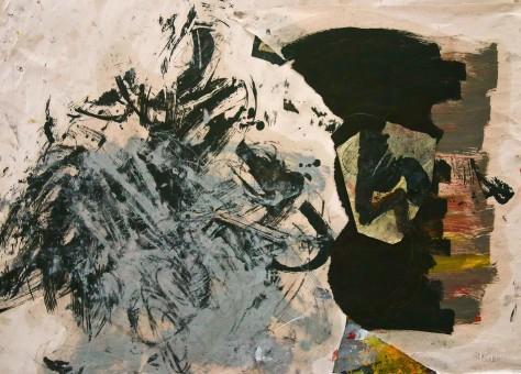 beneath the turbulance, HILDY MAZE, 2015, oil paint on paper, 30 x 36