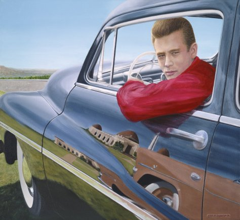 James Dean & 1949 Mercury by Chris Osborne