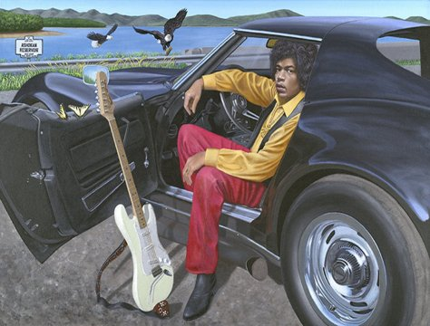 Jimi Hendrix and His 1969 Corvette Stingray by Chris Osborne