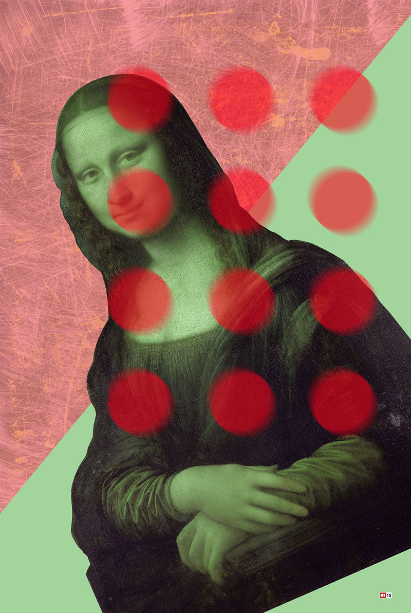 One of Metrov's Renaissance Pop portraits of the Mona Lisa