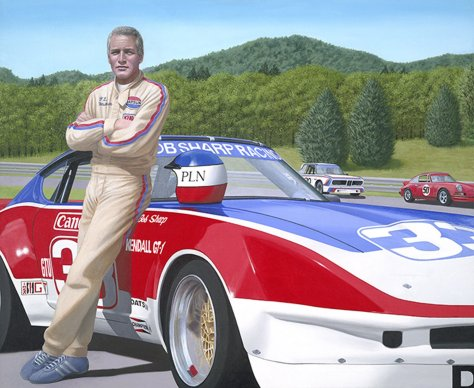 Paul Newman & #33 Bob Sharp Racing Datsun by Chris Osborne