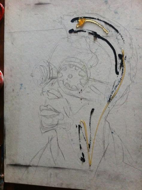 Portrait of Cyrus Nganga Kabiru, Kenyan artist and his eclectic eyewearDETAIL