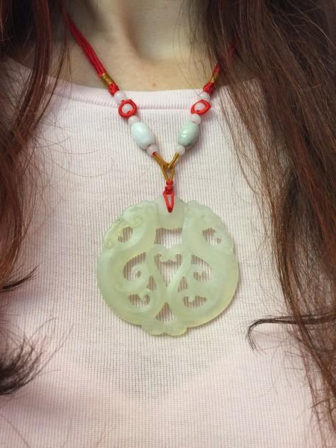 Feng shui Twin Dragon pendant