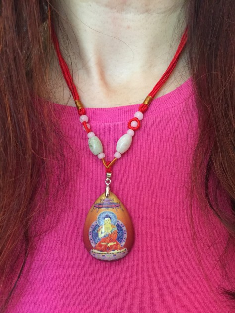Wearable art jewelry Shakyamuni Buddha pendant necklace