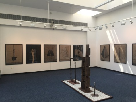 New photo and sculpture works by Yves F. Wilson at UCONN's Stamford campus gallery