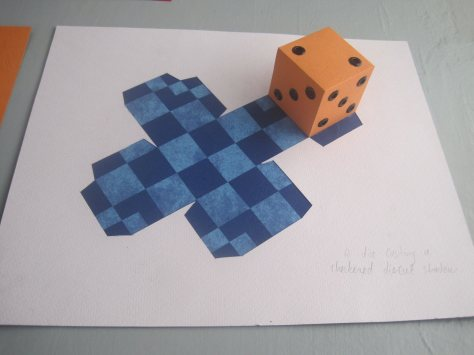 Die casting checkerboard die cut shadow, David Thuku