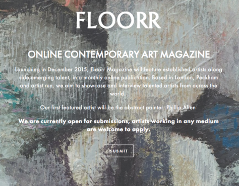 Artists Submit to New Online Contemporary Art Magazine by December 1st