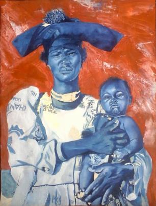 Lioda Conrad, woman with baby