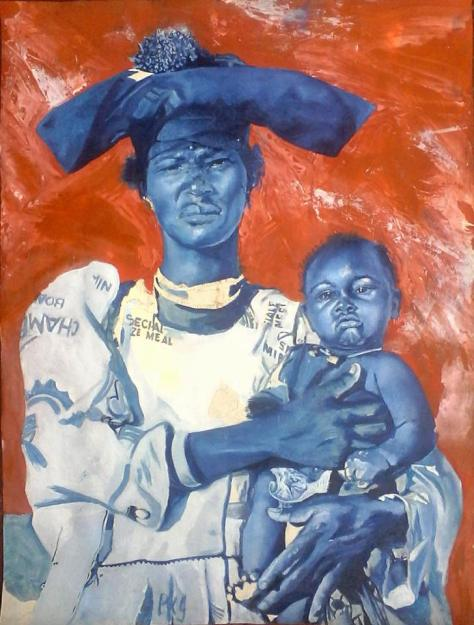 Lioda Conrad, woman with baby