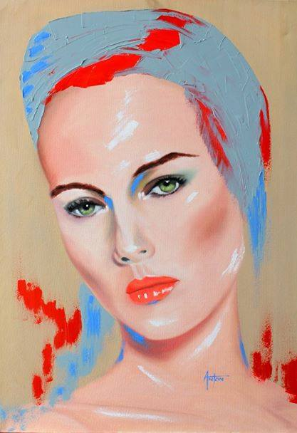 portrait painting by Anton Kilian