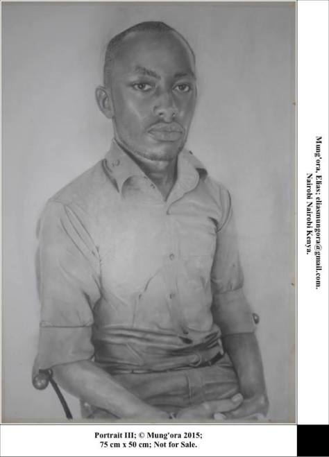Portrait drawing by Elias Mung'ora