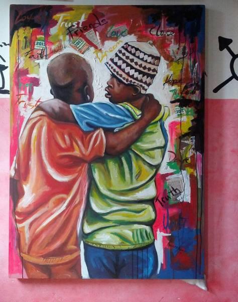 Kwesi Botchway painting