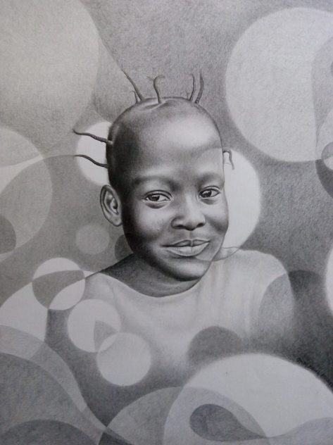 portrait drawing by Moses Marquis Okpayowa