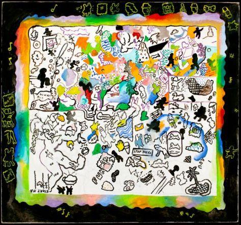 Suellen Rocca, Game, ca. 1966-67. Oil on canvas, 27¾ x 30⅞ inches.