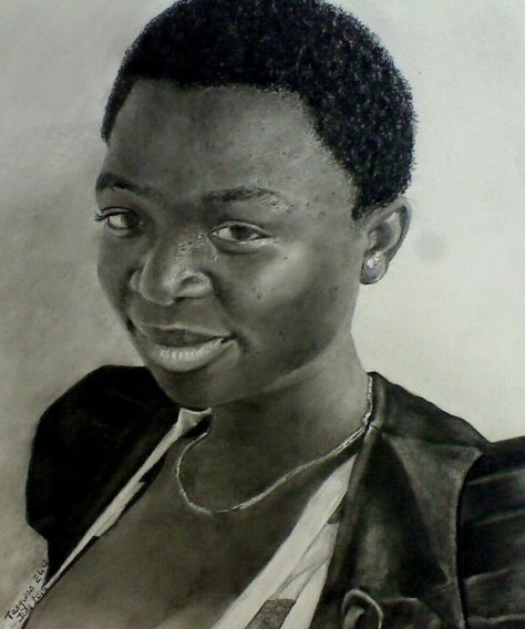 Beautiful Lady, Portrait Drawing by Tangwan Elice