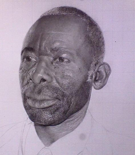 Tangwan Elice portrait drawing in progress