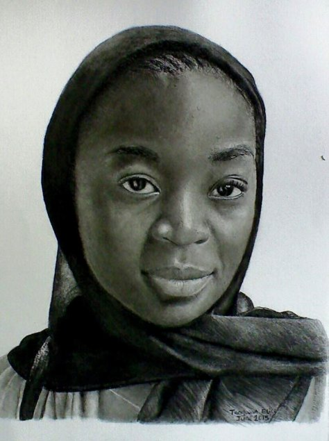 Untainted Beauty, portrait drawing by Tangwan Elice