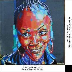 portrait painting by Waweru Ch