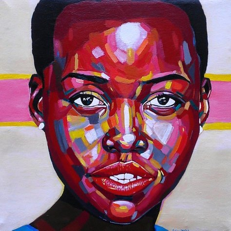 portrait painting by Waweru Gichuchiri