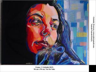 portrait painting by Waweru Guichi