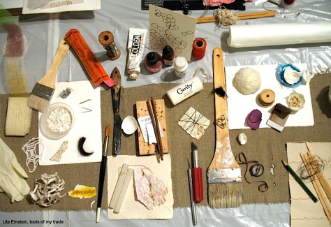 Ula Einstein's tools for her art practice
