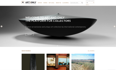 ArtAndOnly_Homepage_Platform_for_Collectors