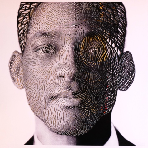 Will Smith, cut paper and ink, Marco Gallotta