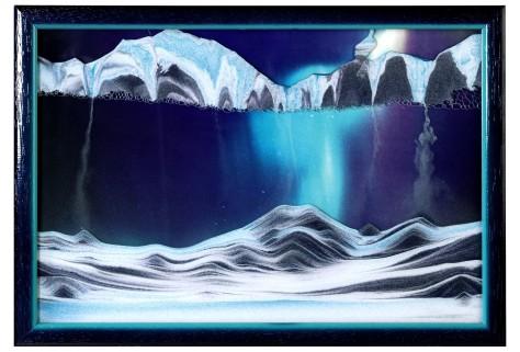 Aurora Borealis Sand Art
