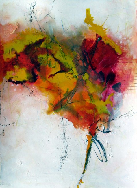 Precipice, painting by JIll Krasner, 22 x 30 inches
