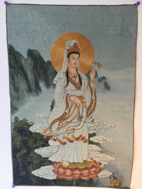 Kwan Yin Meditation Tapestry (images used with permission from Explosion Luck)