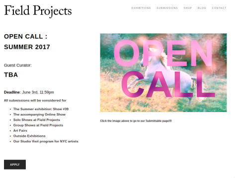 OPEN CALL to Emerging Artists and Mid-Career Artists to Submit for New York City Exhibition