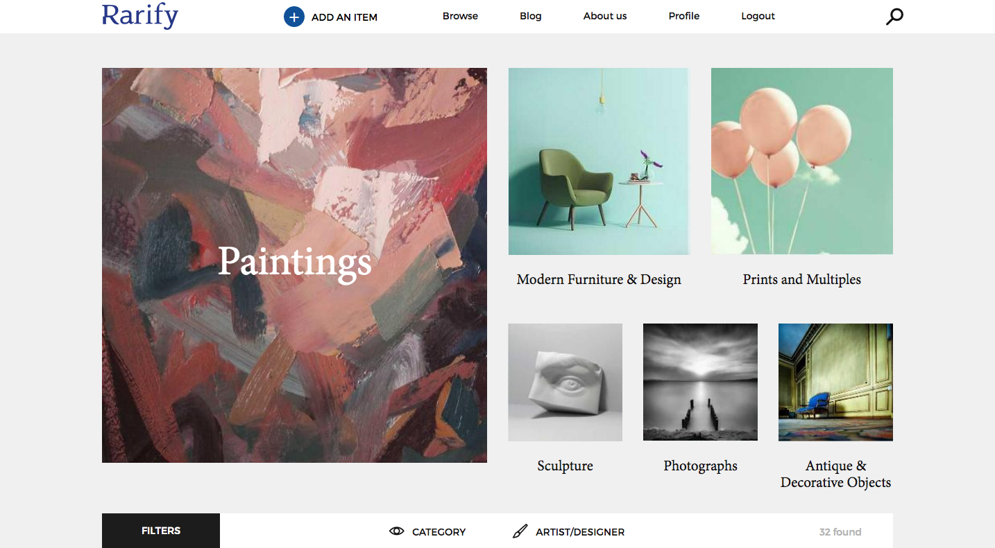 Rarify: New website aims to connect art and design collectors around the world